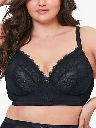 Oola Lingerie Lace and Logo Longline Underwired Bra