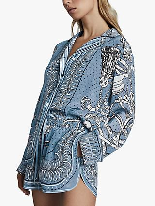 Reiss Sally Abstract Print Top, Multi