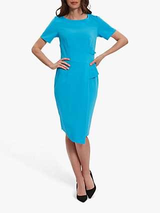 Gina Bacconi Lilianna Crepe Asymmetric Dress