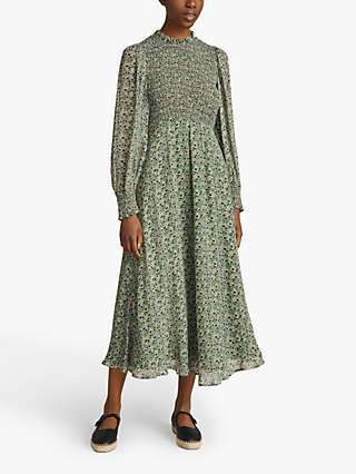 Ghost Tilly Floral Maxi Dress, Green