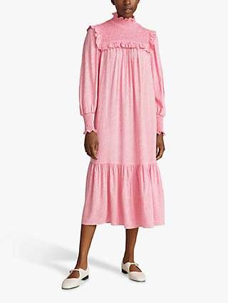 Ghost Anisha Folk Floral Print Midi Dress