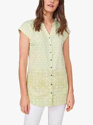 White Stuff Holiday Mixed Print Tunic Top, Green/Multi