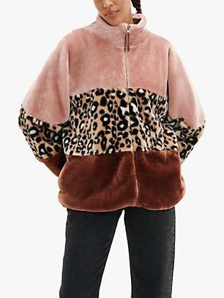UGG Elaina Faux Fur Jacket, Cliff/Multi