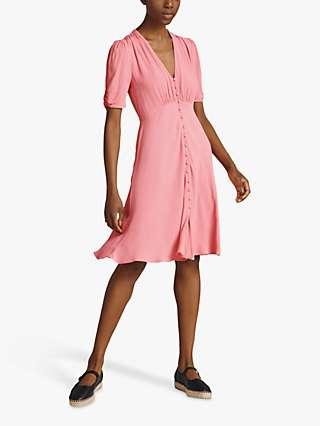 Ghost Sabrina Button Front Midi Dress