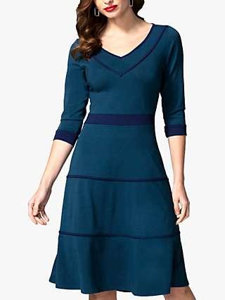 HotSquash Contrast Ribbing Tiered Dress
