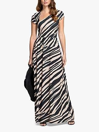 HotSquash Animal Print Maxi Dress, Brown/Multi