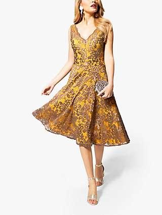 HotSquash Floral Lace V-Neck Dress