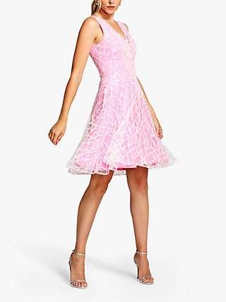 HotSquash Sequin V-Neck Skater Dress