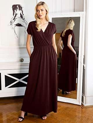 HotSquash Mock Wrap Maxi Dress