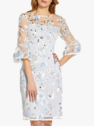 Adrianna Papell Floral Embroidered Sheath Dress, Clearwater