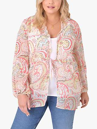 Live Unlimited Curve Paisley Print Cover Up, Pale Pink