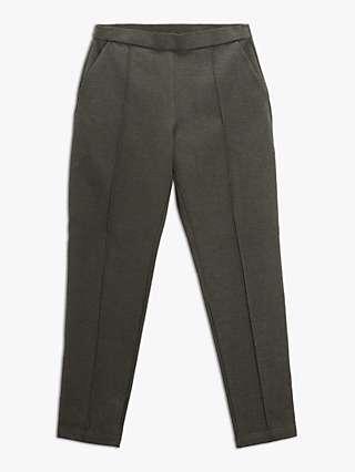 Masai Paquita Plain Tailored Trousers, Grey Melange