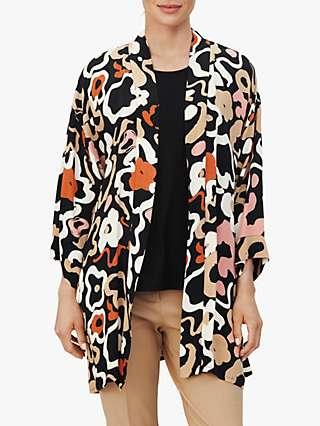 Masai Copenhagen Josslyn Floral Print Kimono Jacket, Dusty Rose