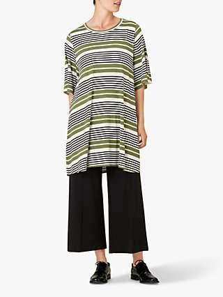 Masai Copenhagen Gessana Stripe Tunic Top, Green/Multi
