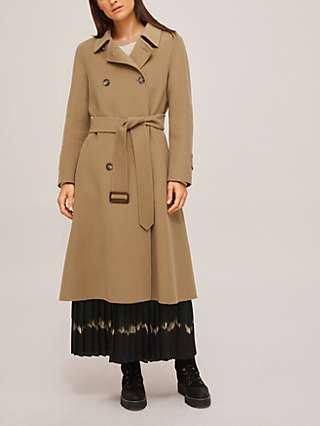 Weekend MaxMara Struzzo Wool Trench Coat, Camel