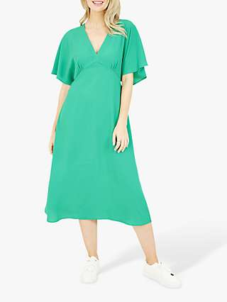 Yumi Plain Kimono Midi Dress