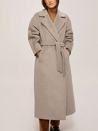 Weekend MaxMara Diego Wool Wrap Coat, Turtle Dove