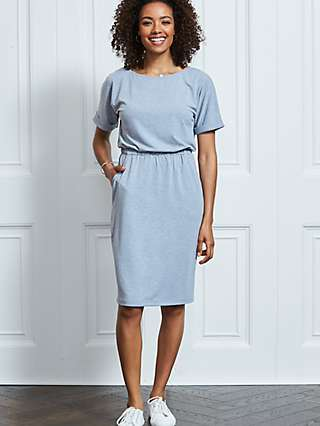 Sosandar T-Shirt Knee Length Dress, Grey