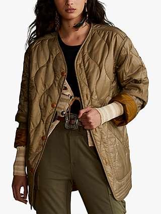 Polo Ralph Lauren Reversible Quilted Ripstop Jacket, Harvest/Khaki