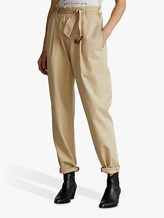 Polo Ralph Lauren Twill Belted Trousers, Classic Tan
