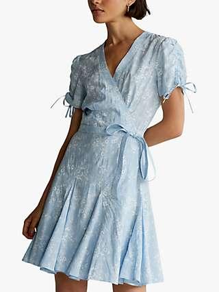 Polo Ralph Lauren Nami Floral Crepe Wrap Dress, Blue