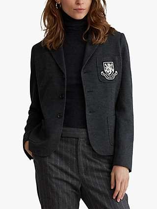 Polo Ralph Lauren Crest Blazer Jacket, Onyx Heather