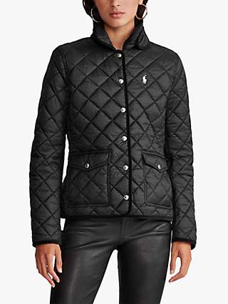 Polo Ralph Lauren Cropped Quilted Barn Jacket, Polo Black