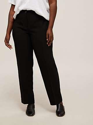 Persona by Marina Rinaldi Raro Straight Cut Trousers, Black