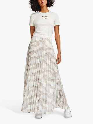 Tommy Hilfiger Icon Flag Print Pleated Skirt, White