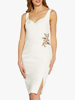 Adrianna Papell Sweetheart Neck Cocktail Dress, Ivory