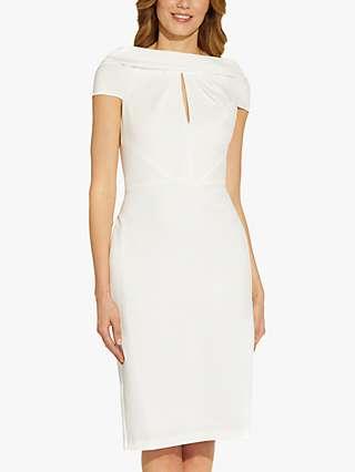 Adrianna Papell Crepe Tie Midi Dress