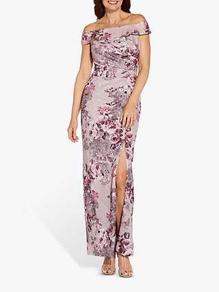 Adrianna Papell Matelasse Maxi Dress, Lilac Snow