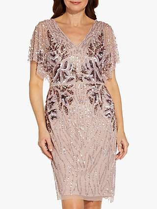 Adrianna Papell Bead Embellished Cocktail Dress, Cameo