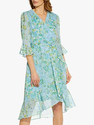 Adrianna Papell Floral Print Wrap Dress