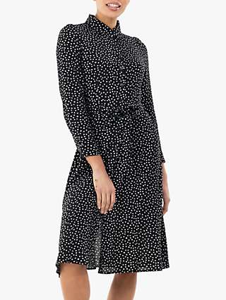 Jolie Moi Shea Spot Print Shirt Dress, Black