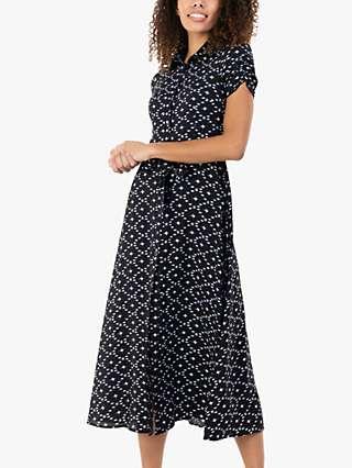 Jolie Moi Danni Star Print Shirt Dress, Navy