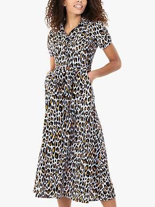 Jolie Moi Danni Animal Print Shirt Dress, Blue