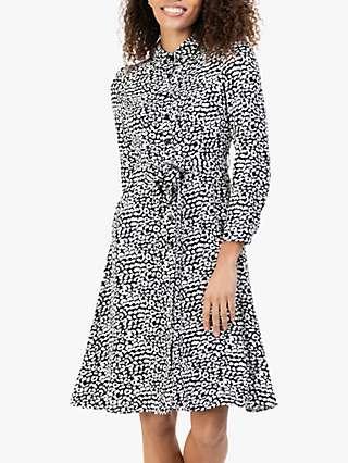 Jolie Moi Shea Leopard Print Shirt Dress