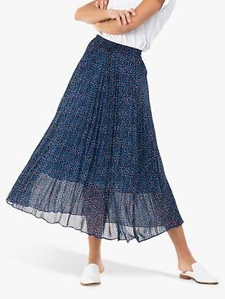 Jolie Moi Animal Print Chiffon Skirt, Blue