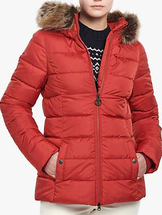 Barbour Hailey Faux Fur Hood Quilted Jacket