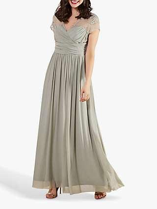 Yumi Lace Bodice Maxi Dress
