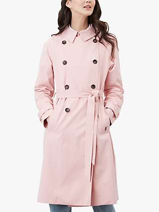 Joules Evita Double Breasted Trench Coat, Pink