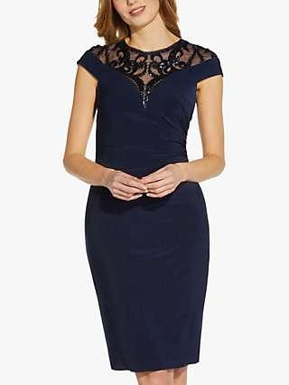 Adrianna Papell Sequin Jersey Dress, Midnight