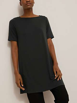 EILEEN FISHER Boat Neck Tunic Top, Black
