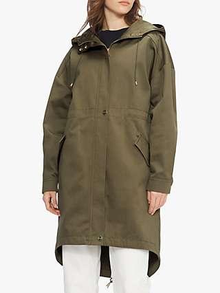 Ted Baker Annalou Oversized Parka Coat, Olive