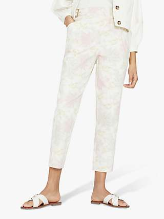 Ted Baker Floral Tapered Trousers, Ivory