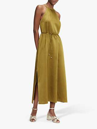 Ted Baker Halterneck Midi Dress, Khaki