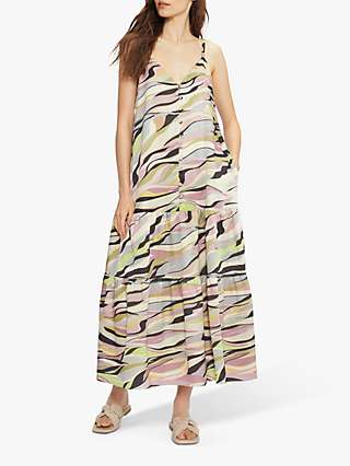 Ted Baker Abstract Print Maxi Dress, Dusty Pink