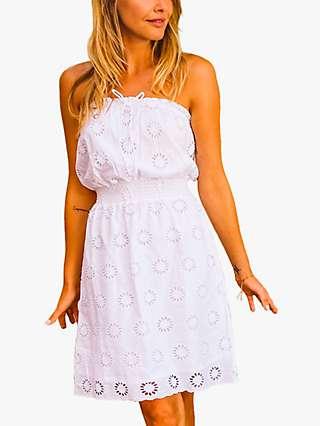 Sosandar Broderie Mini Dress, White