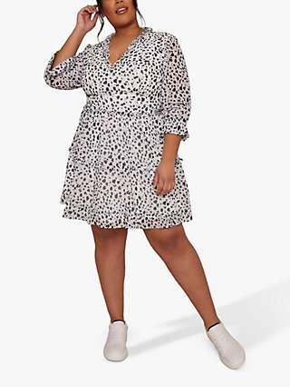 Chi Chi London Curve Tiered Ruffle Dress, White